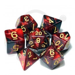 Set of 7 RPG dice 2Color - Red/Black d4 6 8 10 12 20 i 00-90