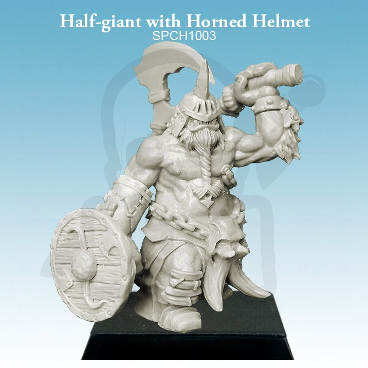 Umbra Turris Half-giant with Horned Helmet