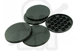 Plastic Bases - Round 50 mm BLACK