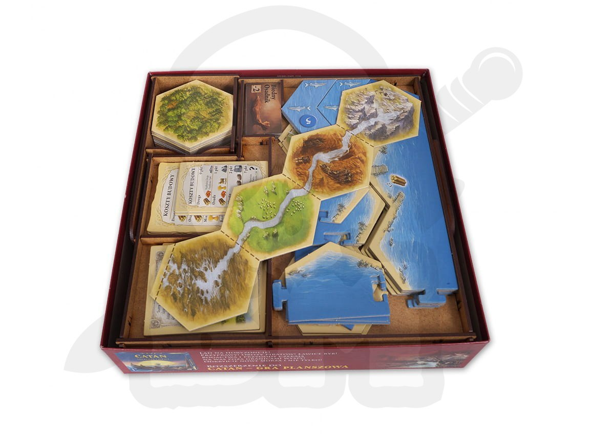 e-Raptor Insert Catan + Traders & Barbarians + 5-6 Players Expansions