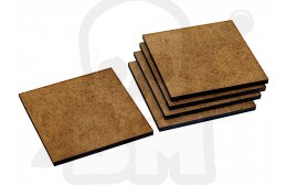 HDF Bases - Square 50 mm x5