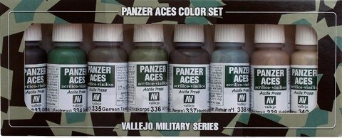 Vallejo 70128 Zestaw Panzer Aces 8 farb - German Tank Crew uniforms