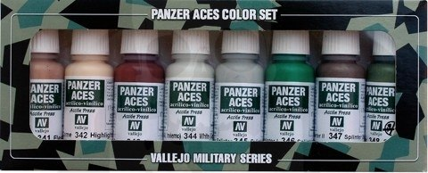 Vallejo 70129 Zestaw Panzer Aces 8 farb - 6 Skin, camouflage