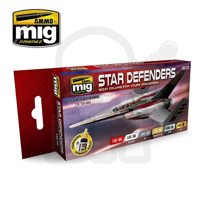 Ammo Mig 7130 Farby Star Defenders Sci-Fi Colors