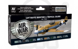 Vallejo 71164 Zestaw Model Air War Luftwaffe Maritime and Tropical Colors