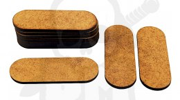 HDF MDF Bases - Oval Pill 25x70mm x10