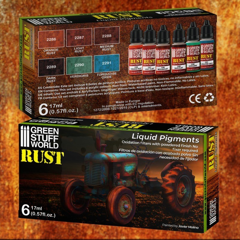Green Stuff Liquid Pigments Set - Rust