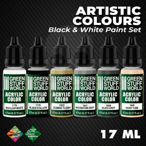 Green Stuff Paint Set - Black and White