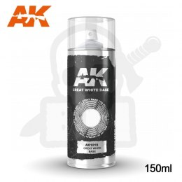 AK Interactive 1019 Great White Base Spray 150ml