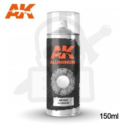 AK Interactive 1022 Aluminum Spray 150ml