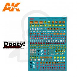 AK Interactive DZ035 Fuel Signs Decals