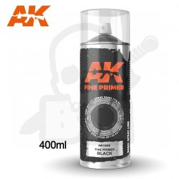 AK Interactive 1009 Fine Primer Black Spray
