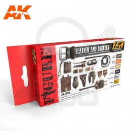AK Interactive AK3030 Leather And Buckles Colors Set