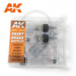 AK Interactive AK9047 Paint Doser Bottles 60ml