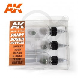AK Interactive AK9048 Paint Doser Bottles 100ml