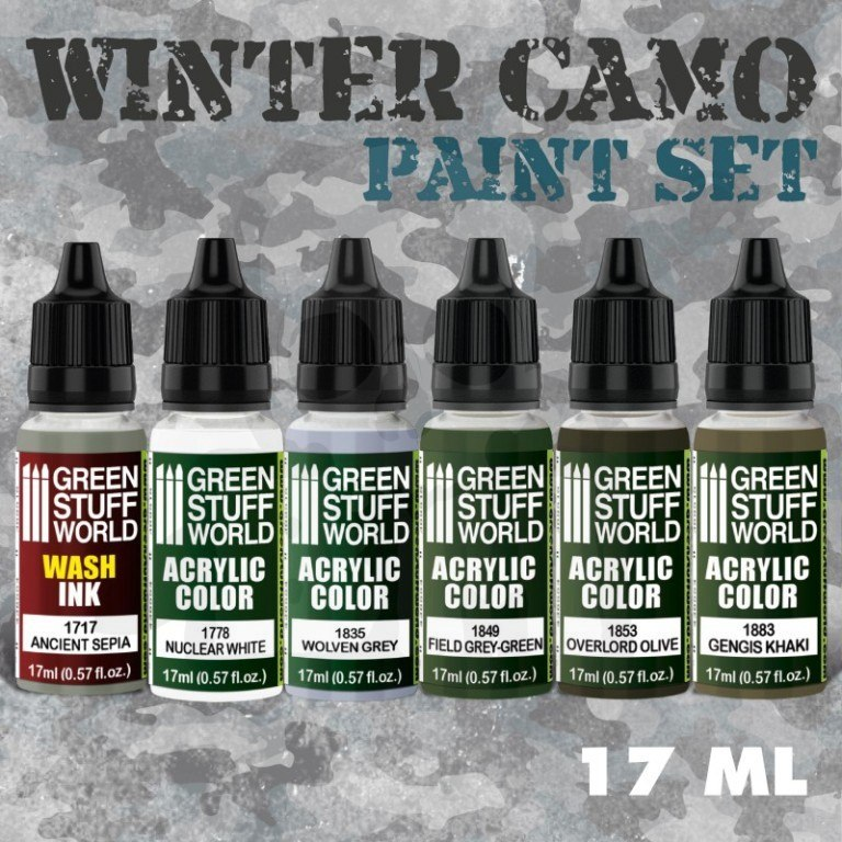 Green Stuff Paint Set - Winter Camo