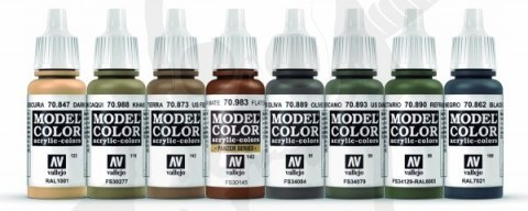Vallejo 70220 Models Colors Acrylic Paint Set - WWIII American Armour & Infantry