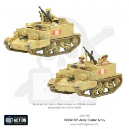 British 8th Army - Bren Carrier + 4 żołnierzy