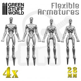 Flexible Armatures in 28 mm x4
