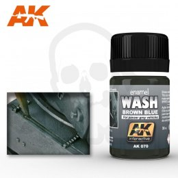 AK Interactive AK070 Wash Brown Blue for Panzer Grey 35ml