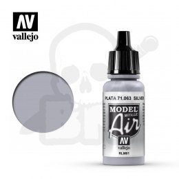 Vallejo 71063 Model Air 17 ml Silver RLM01