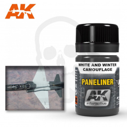 AK Interactive AK2074 Paneliner for white and winter camouflage 35ml