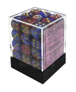 Kostki Chessex K6 12mm Gemini Blue-purple w/gold 36szt.