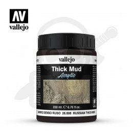 Vallejo 26808 Weathering Effects Thick Mud 200 ml. Russian Mud