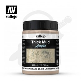 Vallejo 26810 Weathering Effects Thick Mud 200 ml. Light Brown Mud