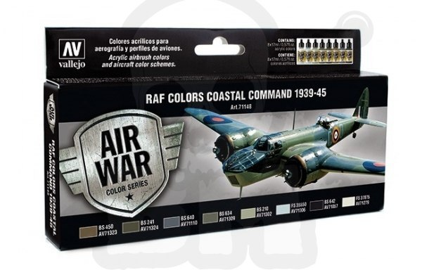Vallejo 71148 Zestaw Model Air War RAF Colors Coastal Command 1939-1945