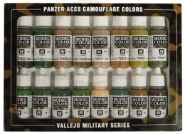 Vallejo 70179 Zestaw Panzer Aces 16 farb Camouflage