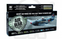 Vallejo 71198 Zestaw Model Air War Soviet Air Force VVS 1943-1945