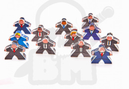 e-Raptor Meeples Political intrigues (12 pcs)