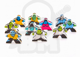 e-Raptor Meeples Zombie Army (10 pcs)
