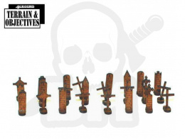 28mm Grave Boards - tablice nagrobne nagrobki 24 szt.